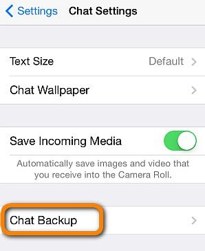 backup and restore whatsapp messages on iphone